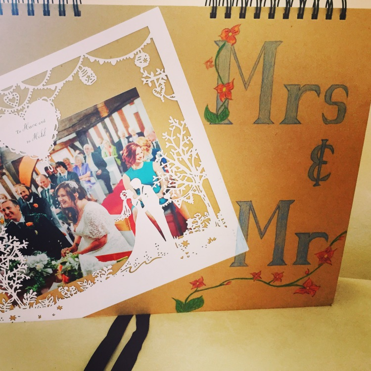 Handmade wedding photo album by Curvy Girl Thin