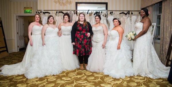 Plus size bride - perfect princess bridal show