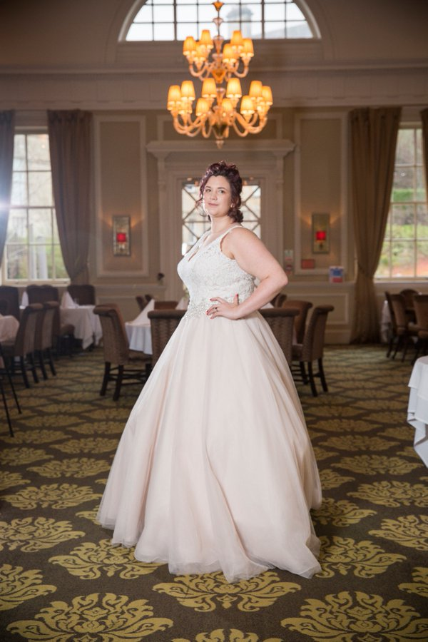 Plus size bride - perfect princess bridal show